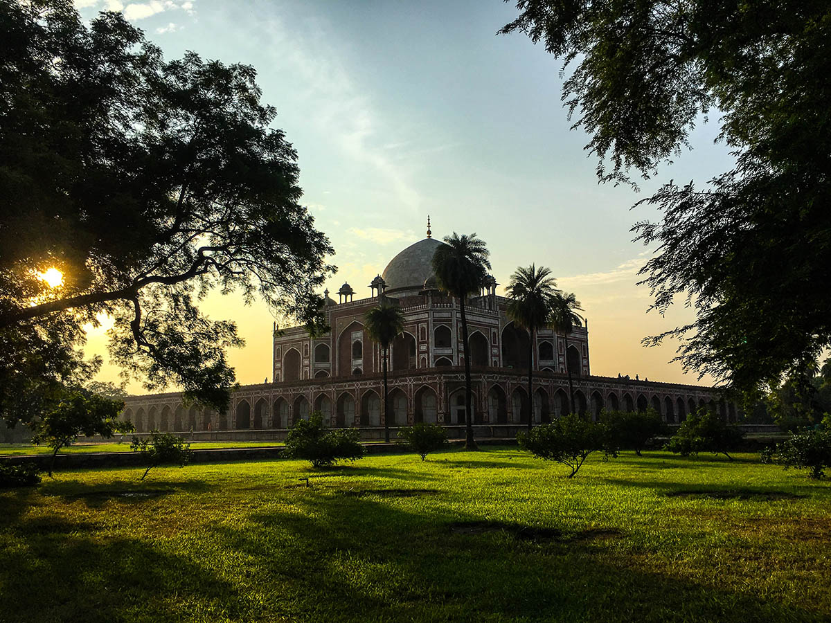 sunset-at-humayun-tomb